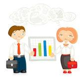 офисные работники — Cтоковый вектор