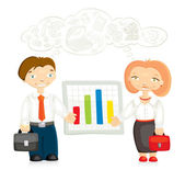 Kantoorpersoneel — Stockvector