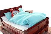 Sleepy in bed — Stock Photo