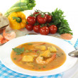 Fresh healthy bouillabaisse — Stock Photo