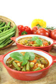 Minestrone with peppers — Stock Photo