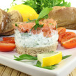 Salmon tartare with parsley — Stock Photo #18416219