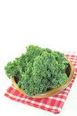 Fresh Kale on a napkin — Stock Photo