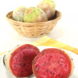 Fresh succulent cactus figs - Stock Photo