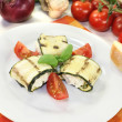 Stuffed courgette rolls — Stock Photo