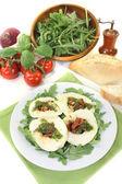Fresh stuffed mozzarella — Stock Photo