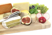 Fresh selection of cheese — Stock Photo