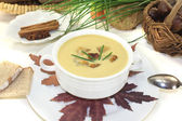 Fresh sweet chestnut soup — Stock Photo