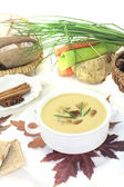Delicious sweet chestnut soup — Stock Photo