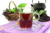 Elderberry tea — Stock Photo