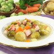 Brussels sprouts stew - Stock Photo