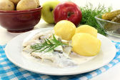 Cream herring — Stock Photo