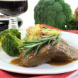 Venison steak - Stock Photo