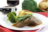 Venison steak — Stock Photo
