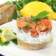 salmon tartare — Stock Photo #16506315
