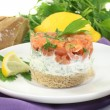 salmon tartare — Stock Photo #16506317