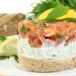 Salmon tartare - Stock Photo