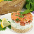 salmon tartare — Stock Photo