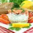 Stock Photo: Salmon tartare
