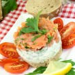 salmon tartare — Stock Photo #16858125