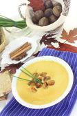 Sweet chestnut soup — Stock Photo