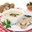 Veal cream soup — Stock Photo