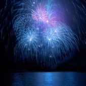 Blue fireworks — Stock Photo