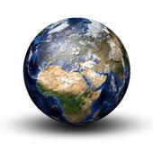 行星地球的 3d 图像 — 图库照片