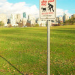 Prohibitive sign in the green park. Vancouver - Stock Photo