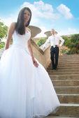 Para piękny ślub — Zdjęcie stockowe