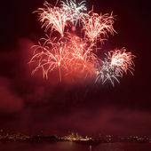 Colorful holiday fireworks — Stock Photo