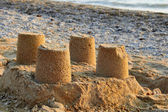 Towers from the sand — Stock Photo