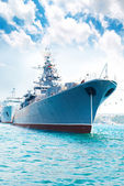 Military ship — Stock Photo