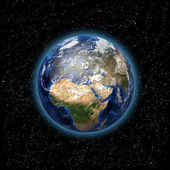 Planet Earth in space — Stock Photo
