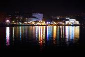 Oświetlenie miasta nocą — Zdjęcie stockowe