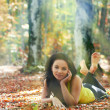 Pretty girl in the forest — Stock Photo