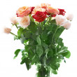 Bouquet of red and white beautiful roses - Stock Photo