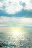 Sea, waves and clouds — Stock Photo