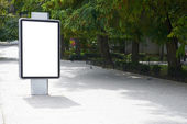 Blank billboard — Stock Photo