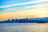 Sunset above Vancouver, Canada — Stock Photo