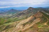 зеленые холмы — Стоковое фото