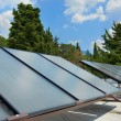 Stock Photo: Solar panels on roof