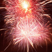Red colorful fireworks — Stock Photo