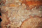 Old vintage retro ancient map — Stock Photo
