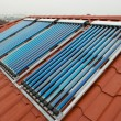 Vacuum collectors- solar water heating system — Stock Photo #49928797