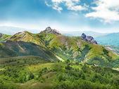 зеленые горы — Стоковое фото