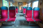 Interior de um trem moderno — Foto Stock