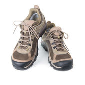 Pair of brown trainers — Stock Photo