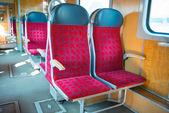 Interior of a modern train — Stock Photo