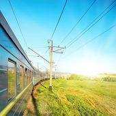 Tren hareket — Stok fotoğraf
